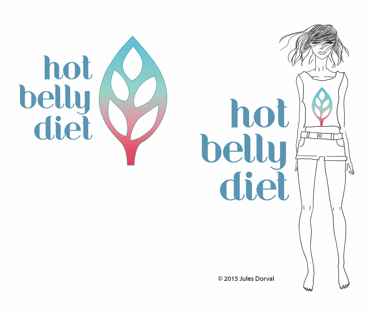 hot belly dieet logo design jules dorval