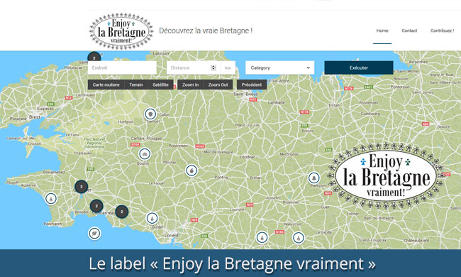 Enjoy la Bretagne presentation design jules dorval