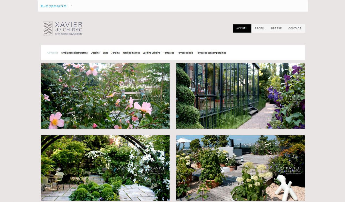 site exemple Xavier de Chirac : design jules dorval