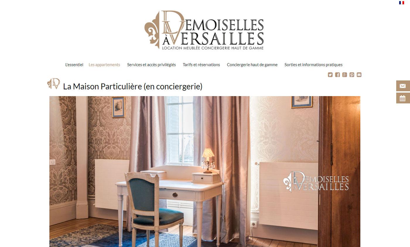 Jules Dorval, Le Demoiselles à Versailles, site de location saisonnière