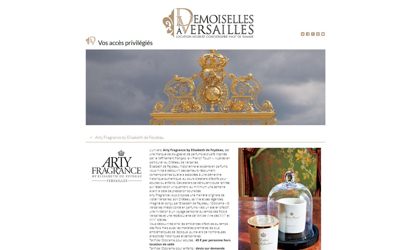 Jules Dorval, Le Demoiselles à Versailles, site de location saisonnière , accès privé