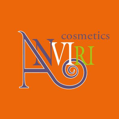 Anviri Cosmetics, logo design Jules Dorval