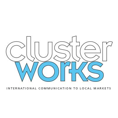 clusterworks, communication internationale vers les marchés locaux logo design Jules Dorval
