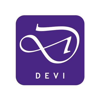 Devi cosmétiques Ayurvédiques, logo design Jules Dorval