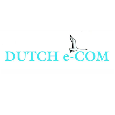 "Dutch e-com, ""flying the internet"", marketing, technique et dessin, logo design Jules Dorval"