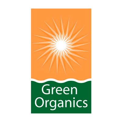 Green Organics, coopérative de vente de produits issue d'agriculture Bio, logo design Jules Dorval