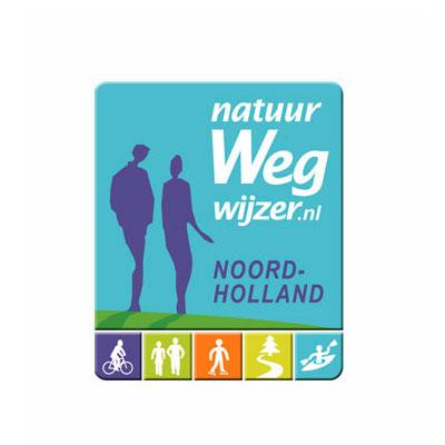 Natuurwegwijzer, indique la route dans la nature, logo design Jules Dorval