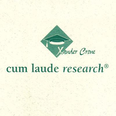 Cum Laude, conseils éducation universitaire, logo design Jules Dorval