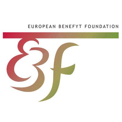 ebf, représentants mondial de médecine douce et phytothérapie au sein du communauté européen, logo design Jules Dorval