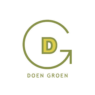 Groen Doen, initiatives thérapeutique dans la nature, logo design Jules Dorval