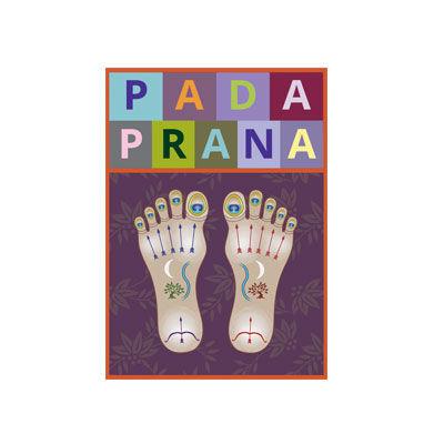 Pada Prana huile de massage pour les pieds Ayurvédique, logo design Jules Dorval