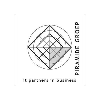 Piramide groupe, technologie de l'information, logo design Jules Dorval