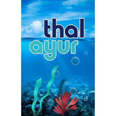 Thal Ayur, suppléments alimentaires à base d'algues, logo design Jules Dorval
