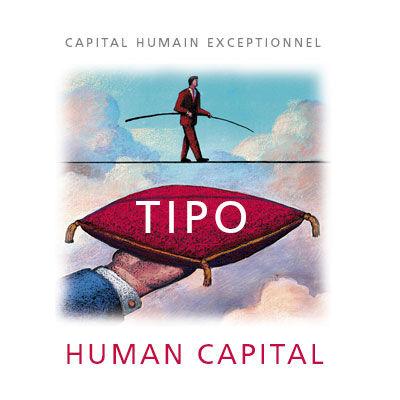 Tipo Human Capital, logo design Jules Dorval