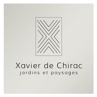 Xavier de Chirac paysagiste, logo design Jules Dorval